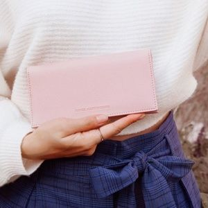 Aimee Kestenburg pink blush bifold wallet clutch
